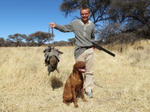 Successful hunting scene