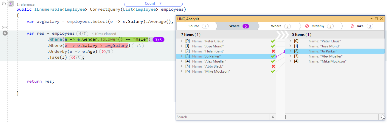 How to Debug LINQ queries in C# - Michael's Coding Spot