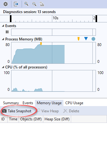 visual studio memory profiler