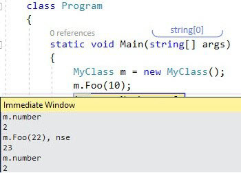 Visual Studio Immediate Window - No Side Effects - Ozcode