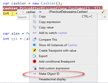 Make Object ID Visual Studio Ozcode